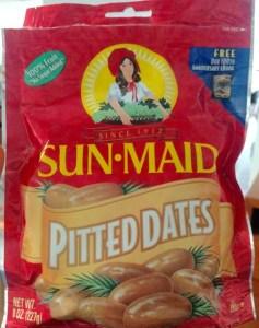 Esta marca de dátiles SUN MAID se puede conseguir en el super mercado.
