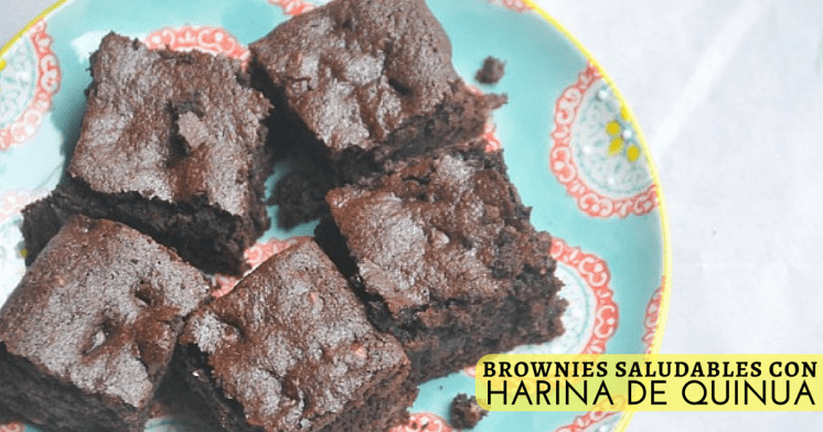 brownies saludables con harina de quinua