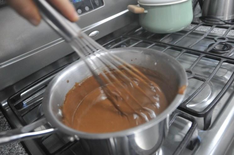 Pudín de chocolate hecho en casa