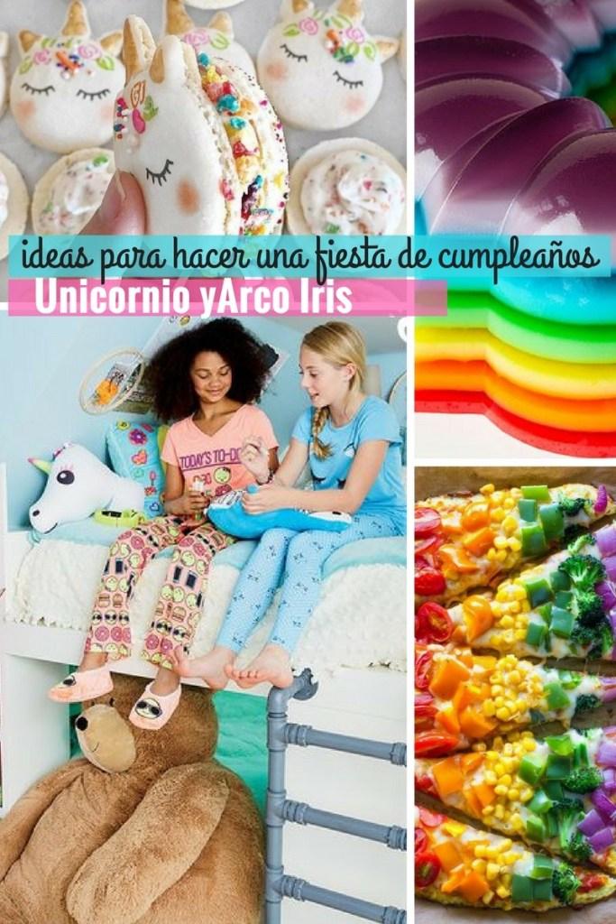 30 Ideas para hacer un cumpleaños de unicornios y arco iris