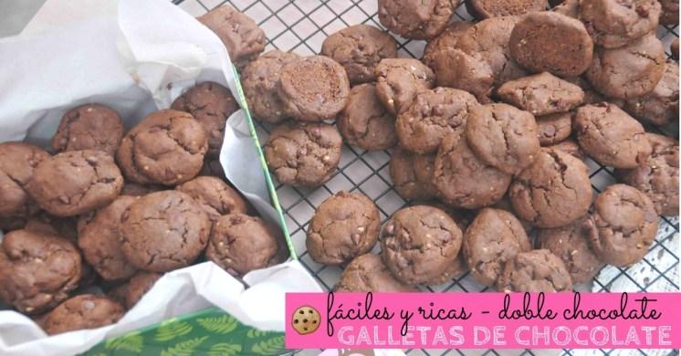 Súper simples y ricas galletas doble chocolate