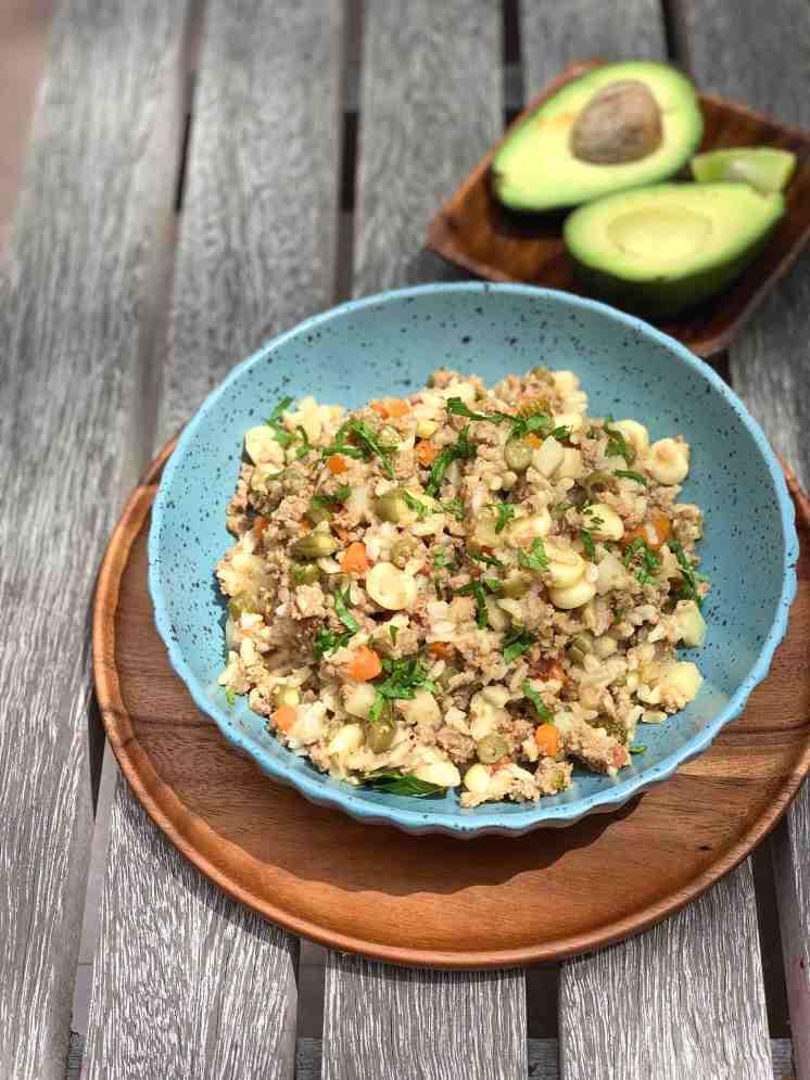 Cómo hacer un arroz integral a la jardinera con carne
