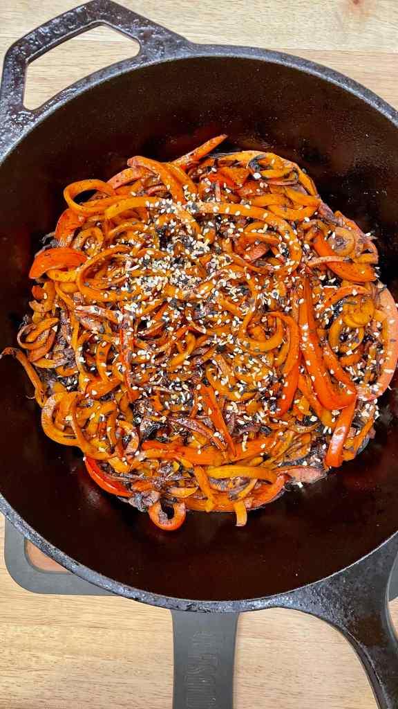 Tallarines de Zanahoria