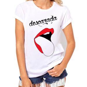 descarada lengua rolling camiseta mujer rojo pormispecas ilustracion