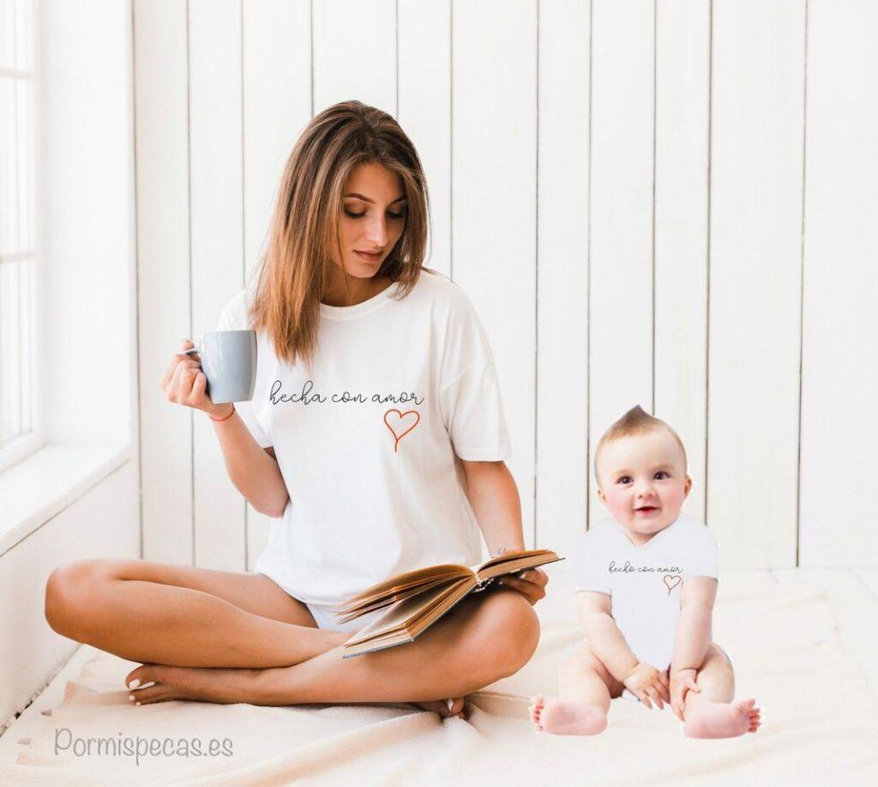 twinning padres e hijos moda camisetas vestir igual mama y bebe mama y niños