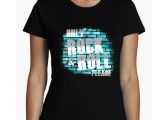Camiseta chica only Rock and Roll manga corta entallada- 2 colores