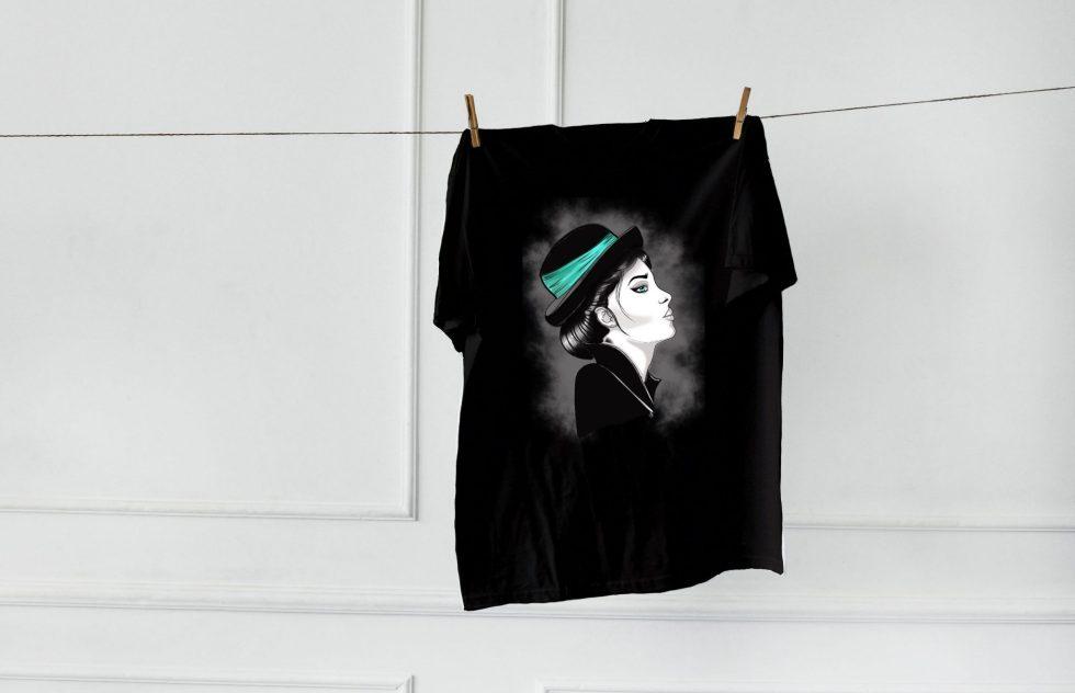 pormispecas ilustracion camiseta tradi