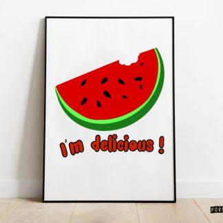 sandia lamina print cuadro decoracion hogar ilustracones divertidas frescas decora tu vida decora tu espacio