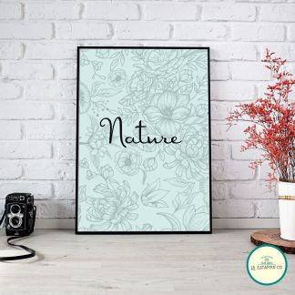 LAMINA decoracion hogar nature estampado flores, diseño para tu hogar