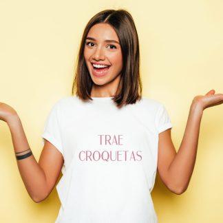 trae croquetas camiseta mujer original con frases ropa minimalista camisetas con frases para mujer