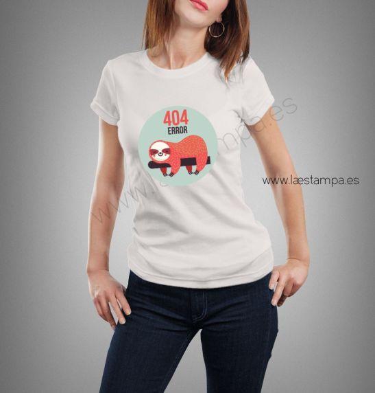 Camiseta mujer 404 error humor