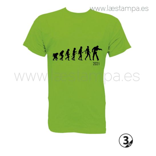 camiseta chico evolucion zombi 2021