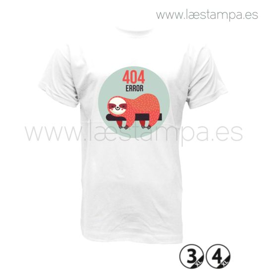 Camiseta hombre 404 error humor