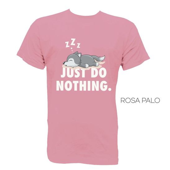 camiseta hombre humor just do nothing
