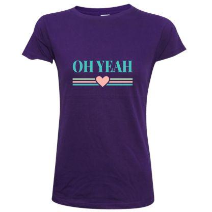 camiseta mujer oh yeah corazon diseño original shirts