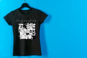 never enough cats camiseta para mujer manga corta original