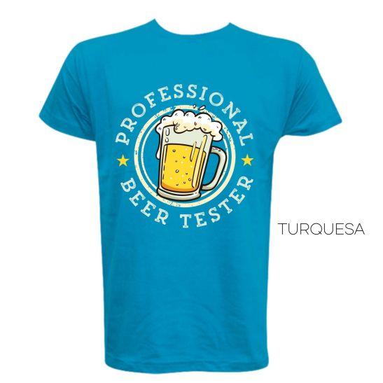 camiseta hombre unisex beer birra testador catador de cerveza humor