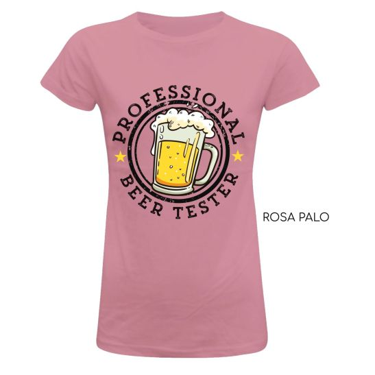 camiseta mujer testadora catadora de cerveza humor