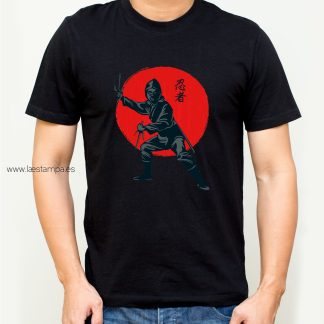 camiseta ninja warrior red hombre unisex