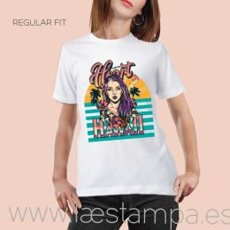 camiseta mujer unisex tropical heart hawai estilo tattoo