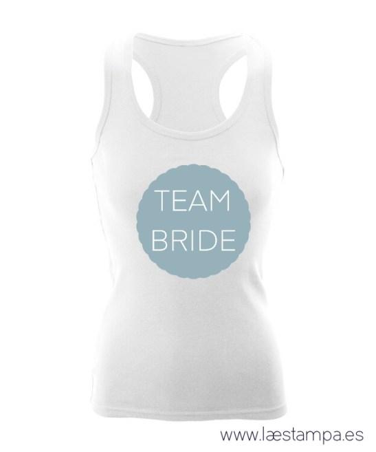 tank top despedida team bride personalizada