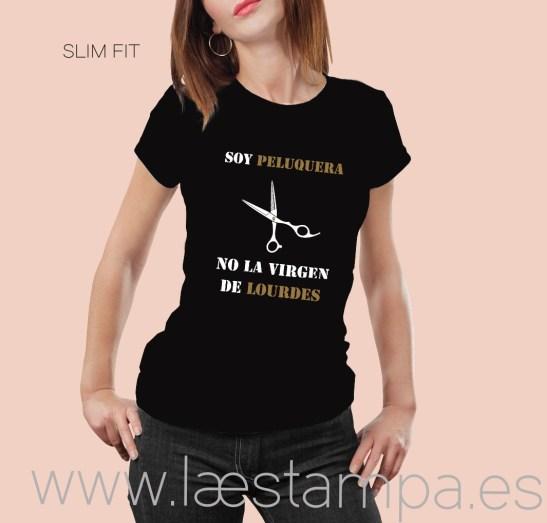 camiseta soy peluquera no la virgen de lourdes