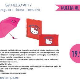 HELLO KITTY SET regalo escolar