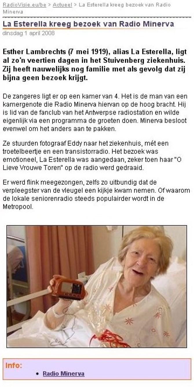 Radiovisie: La Esterella kreeg bezoek van Radio Minerva