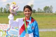Yarimar Mercado medallista de bronce en rifle 3x20 en lso Juegos Panamericanos y clasificada a Río 2016. (Luis Tuto Bermúdez para COPUR) (2)
