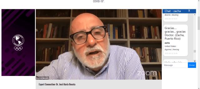 El Dr. José María Buceta habló del efecto de las noticias en el los atletas elites durante la pandemia del coronavirus (COVID19).