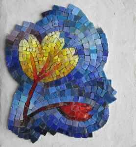 fleur bleue laetitia gauthier mosaique art funeraire
