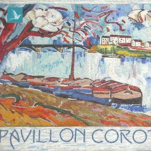Mosaïque murale du pavillon corot de port marly