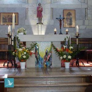 Mosaïque sacrée église bouchemaine