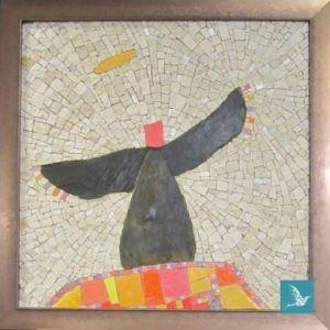 Ange - mosaïque su souvenir - tableau personnalisé pour un deuil ou une commémoration