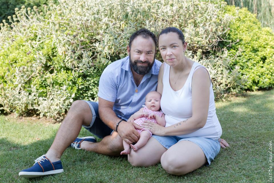 Séance photo en extérieur avec bébé