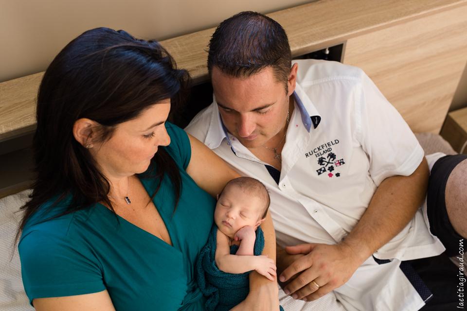 photo de famille à la naissance