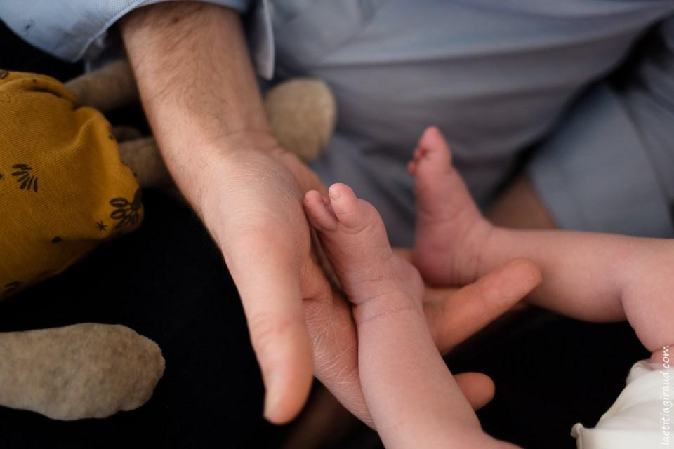 petits pieds de nouveau né