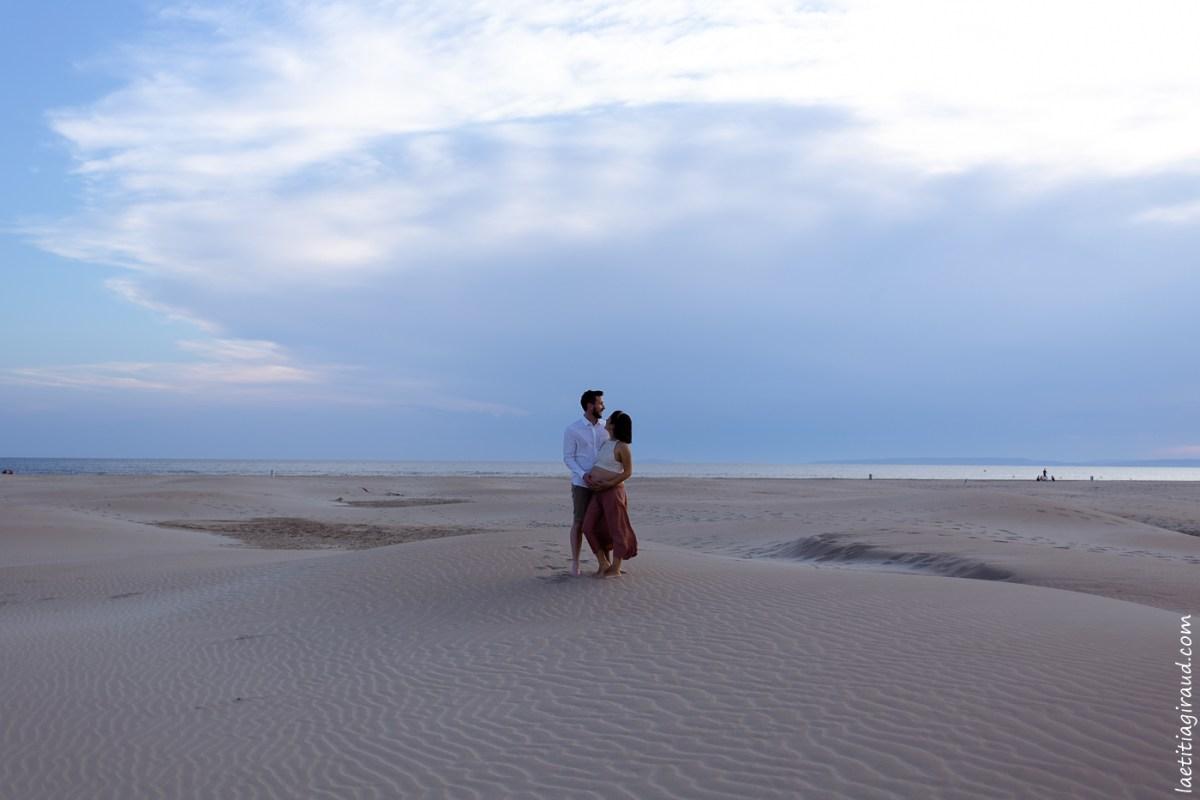 séance grossese sur la plage de l Espiguette