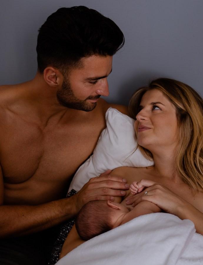 Photographe naissance à domicile Orange