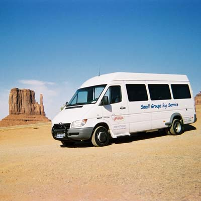 Sprinter MicroBus at Monument Valley.