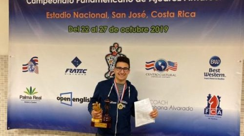 Román Herrmann, campeón Panamericano y Candidato Maestro de la FIDE