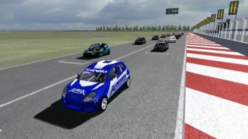 Elite del automovilismo sanjuanino participaron en carreras simuladas