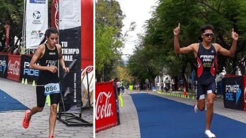 Daiana y Luciano Frías llevan el triatlón en la sangre