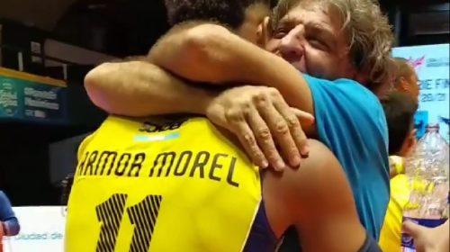 UPCN campeón/Fabián Armoa, sobre su hijo Manuel: «No se notó que era un debutante en finales»