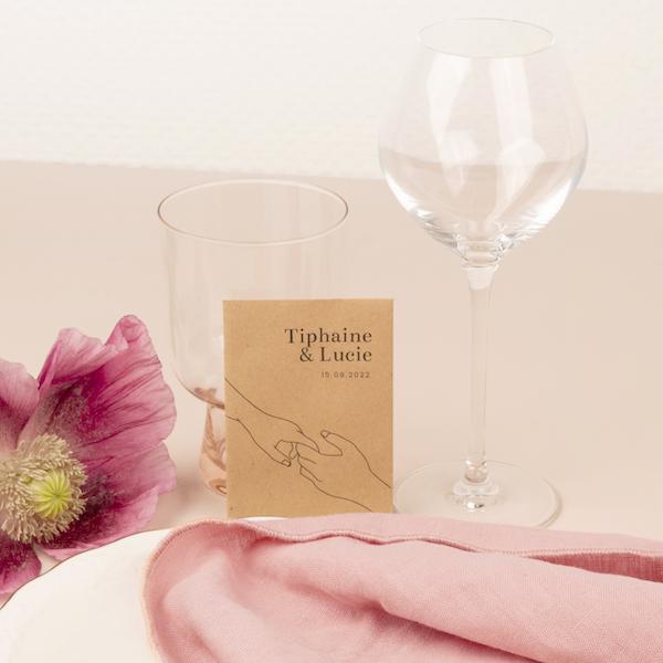 cadeaux invités minimaliste mariage