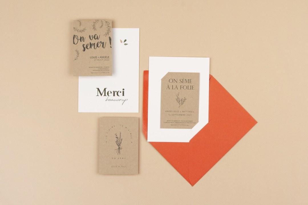 Recevoir des échantillons de sachets de graines pour cadeaux d'invités à un mariage