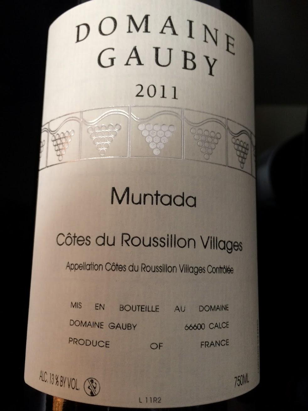 Domaine Gauby - Muntada - 2011 - Rouge