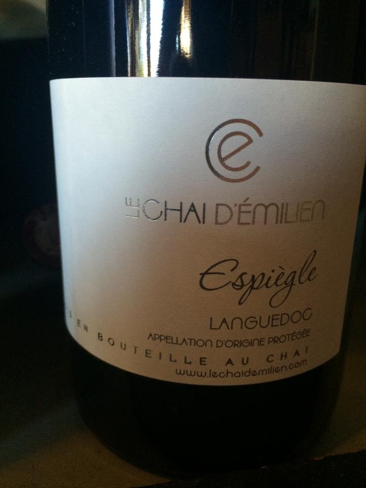 Le Chai d'Emilien - Espiègle - 2013 - Rouge