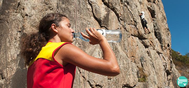 hydratation et escalade