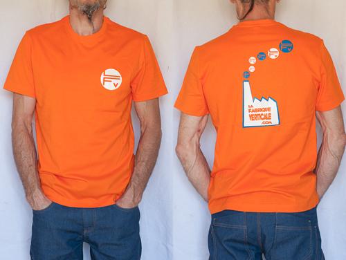Tee-shirt homme orange